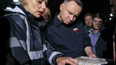 Photo of Andrzej Duda na terenach dotkniętych ulewami