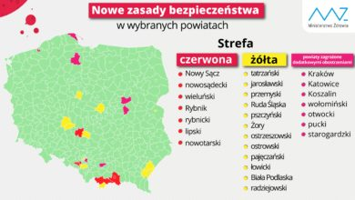 Photo of Kraków na liście ostrzegawczej. Powiat nowotarski w strefie czerwonej, tatrzański w żółtej