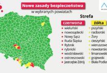 Photo of Powiaty: limanowski i nowotarski żółtymi strefami