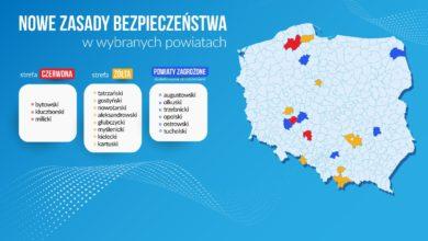 Photo of Strefa żółta: powiat tatrzański, nowotarski i myślenicki.