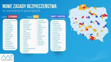 Photo of MZ: 51 powiatów z obostrzeniami; 17 w strefie czerwonej, 34 w strefie żółtej