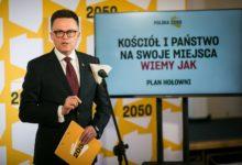 Photo of Szymon Hołownia: Kościół i państwo na swoje miejsca